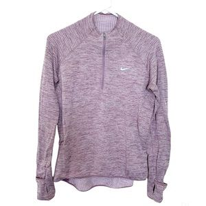 Nike Top Athletic Long Sleeve Pullover Dri-Fit Med